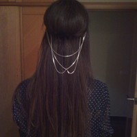 Crossed chains hair band