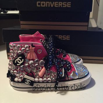 """She's a Bossy Girl"" Custom Bling Converse"