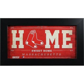 MDIGMS9 Boston Red Sox 6x12 Home Sweet Home Sign
