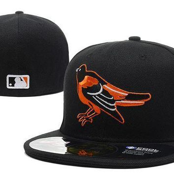 Baltimore Orioles New Era Mlb Authentic Collection 59fifty Hat Black Orange