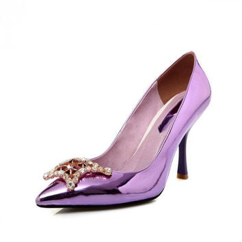 2016 Fashion Sweet Pointed Toe  Leather Pumps