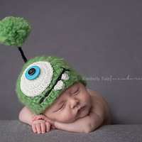 Monster Newborn Hat, Monster, Newborn, Baby, Hat, Beanie, Boy, Girl, Photo Prop, Photography Prop