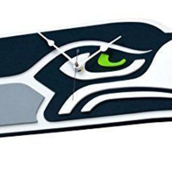 Seattle Seahawks 3D Foam Wall Clock Made in USA Man Cave Decor Licensed New