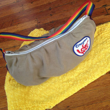 Vintage 60s 70s Purse Retro Oregon I love you Rainbow purse