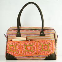 Weekender bag, Overnight bag, Carry-on Luggage, Duffle bag Lightweight Travel bag Gypsy, Boho, Hippie, Ethnic, Tribal Style