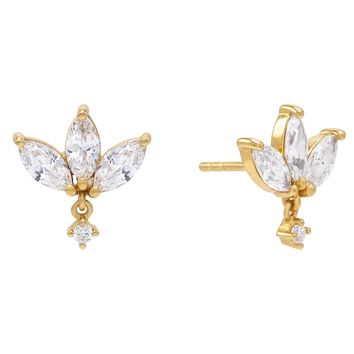 Marquis Dangle Stud Earring