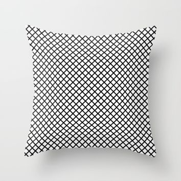 #47 Grid Throw Pillow by Minimalist Forms