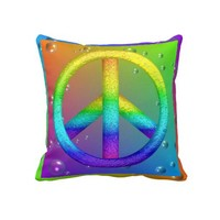 Peace Sign Pillow from Zazzle.com