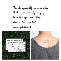 Nonconformist - Temporary Tattoo (Set of 2)