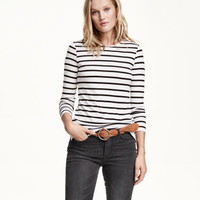 H&M Ribbed Jersey Top $17.99