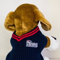 New England Patriots Dog Sweater NFL Football Officially Licensed Pet Product