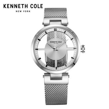 Kenneth Cole Womens Watches Silver See-through Stainless Steel Bracelet Quartz Simple 2018 Luxury Brand Watches KC10031462