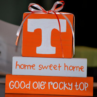 University of Tennessee Wooden block Shelf Sitter Stack