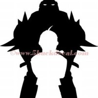 FULLMETAL ALCHEMIST ELRIC BROTHERS EDWARD ALPHONSE BROS car window sticker decal