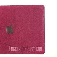"SPECIAL listing** Glitter 13"" Macbook Pro Case- Maroon"