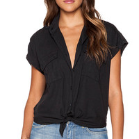 Joe's Jeans Mikaila Shirt in Black
