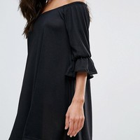 Ax Paris Bardot Smock Dress at asos.com