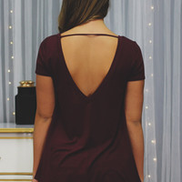 Locked & Loaded Top - Burgundy