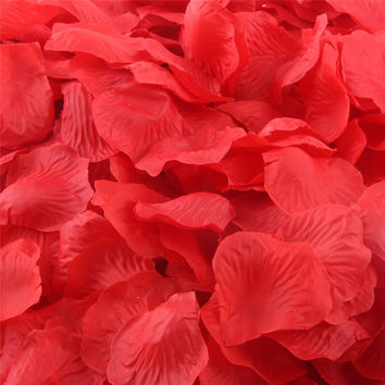 Zero 200pcs Silk Rose Petals Artificial Flower Wedding Favor Bridal Shower Aisle Vase Decor Confetti
