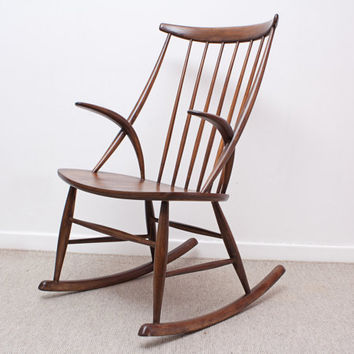 Illum Wikkelso Danish Modern Rocker, Rocking Chair