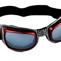 Red Frame Motorcycle Goggles Protective Sport Sunglasses