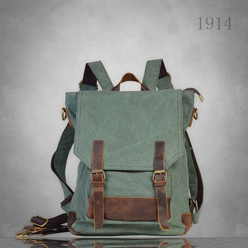 New Mens womens Canvas Backpack Rucksack Bag Large size laptop travel casual School cloth camping eco-friendly tablet unisex teen