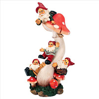 Park Avenue Collection Topsy Turvy Garden Gnomes On Mushroom