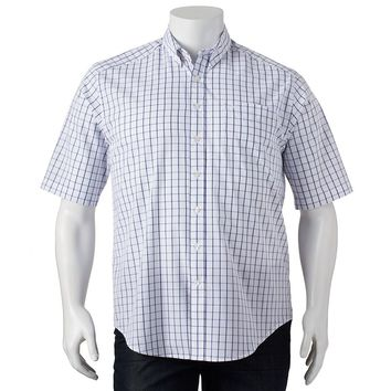 Dockers Windowpane Woven Casual Button-Down Shirt - Big & Tall, Size: