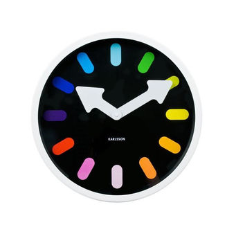 Karlsson Rainbow Pictogram Clock