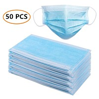 Three layers of thick blue dust-proof breathable protective mask
