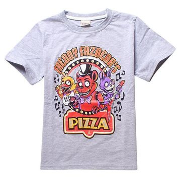 at  pizza shirt  Children T shirts for kids 100%Cotton Boys Clothes  at t shirt