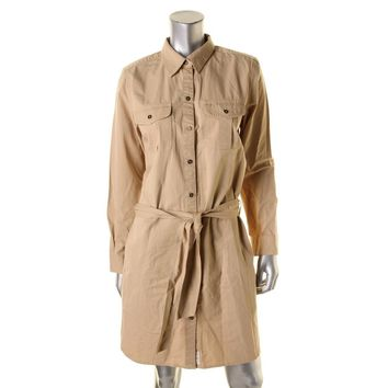 Lauren Ralph Lauren Womens Denim Long Sleeves Shirtdress
