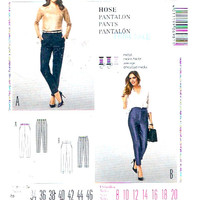 Womens slim pants Close fitting slacks Sewing pattern Burda Style 6981 Chic fashion Sz 8 to 20 UNCUT