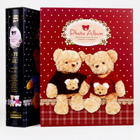 photo album boxed photo set Tactic bear large capacity with the page type box high-grade album baby growth record book