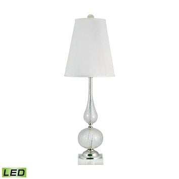 316-LED Serrated Venetian Glass LED Table Lamp In Clear And Gold