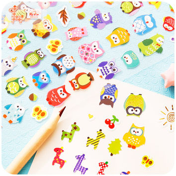 Novelty Owl And Giraffe Decorative Sticker Diary Album Label Sticker DIY Scrapbooking Stationery Stickers