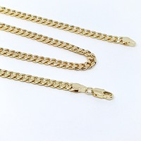 1-1798-g7 Gold Plated Cuban Link Chain. 6mm.