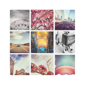 Custom Instagram Photo Collage Metal Wall Art