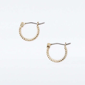 Mini Facet Hoop Earrings - Urban Outfitters