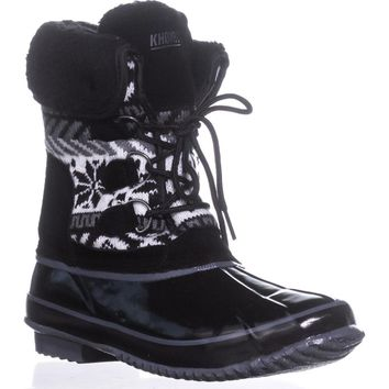Khombu Mayana Cold Weather Boots, Black, 7 US