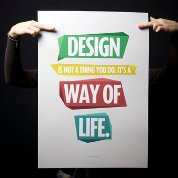 $60.00 Design  Quote Print Limited Run 5/5 by promopocket on Etsy