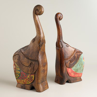 Elephant Trunk Puzzle, Set of 2 - World Market