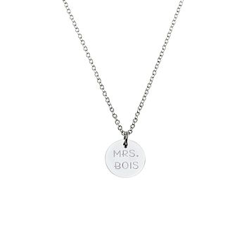 Circle Name Plate Necklace