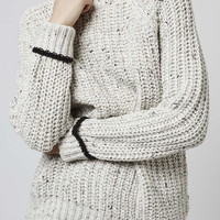 Slouchy Ribbed Jumper by Boutique