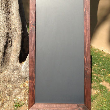 "Large Magnetic Rustic Framed Chalkboard 24""x48"" Reclaimed Wood, Rustic Wedding Sign, Chalkboard, Magnetic Menu board, Kitchen Chalkboard,"