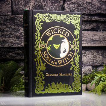 Hollow Book Safe - Wicked - Son of a Witch (LEATHER-BOUND) – Modern Classic – Hollowed Out Book – Magnetic Snap Closure