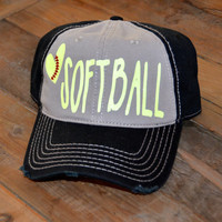 Love Softball Hat
