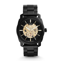 Machine Automatic Stainless Steel Watch – Black