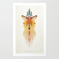 fox spirit Art Print by Manoou