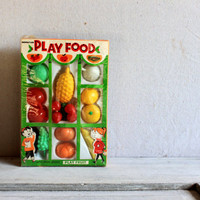 Norstar Plastic Play Food Fruit Original Package : vintage